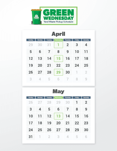 Green Wednesday Schedule April Through May